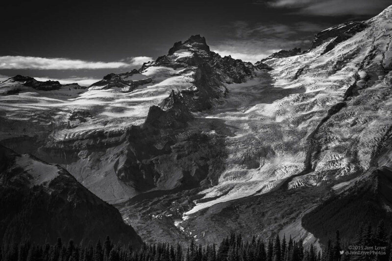 Photo of Little Tahoma and Emmons Glacier by Jim Love