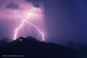 Photo of lightning strike by Daniel J. Cox at NaturalExposures.com as managed in Mylio