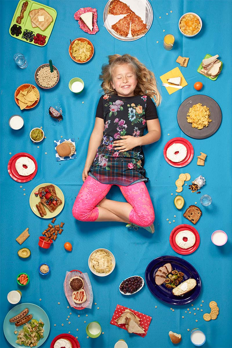 Gregg Segal's Daily Bread photo series lays out everything kids eat in a week, at a glance. Everything.