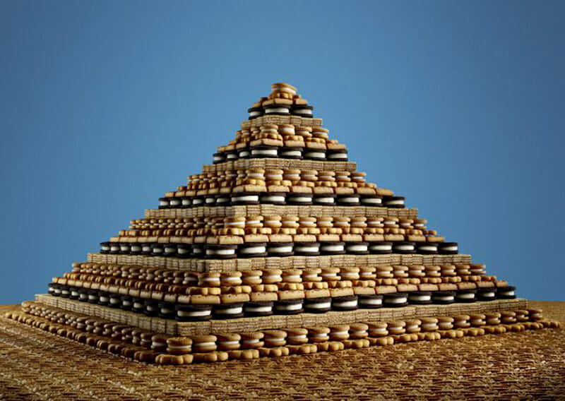 Food organizing photo project -- pyramids unwrapped