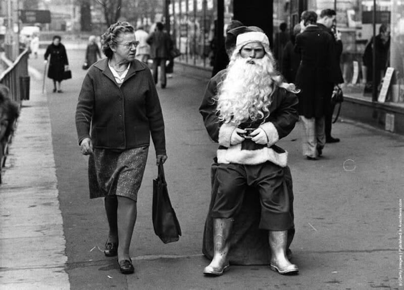 Vintage photos of Santa Claus