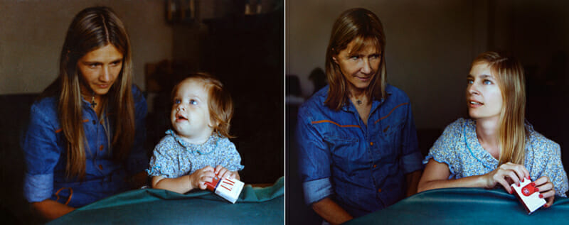 Then-and-now portrait from the original Back to the Future series by Irina Werning