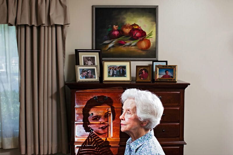 From Gregg Segal's Remembered series, dealing with themes of memory, time, and nostalgia