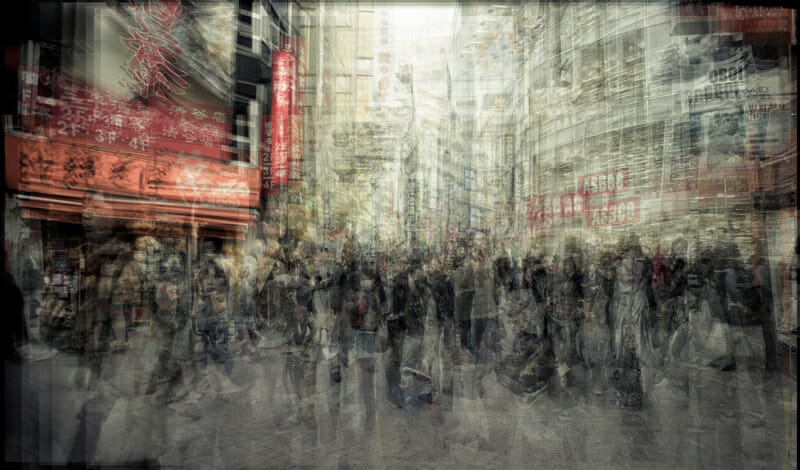 From Riccardo Magherini's time-layering Tokyo series