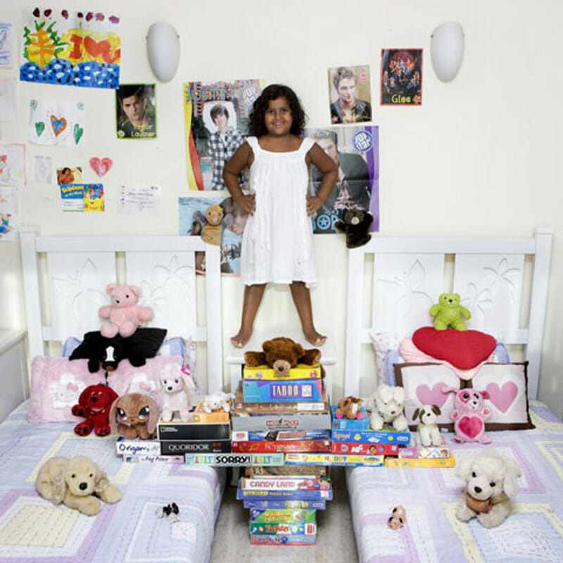 A portrait from Gabriele Galimberti's Toy Stories project -- kids from all over the world photographed with their favorite things.