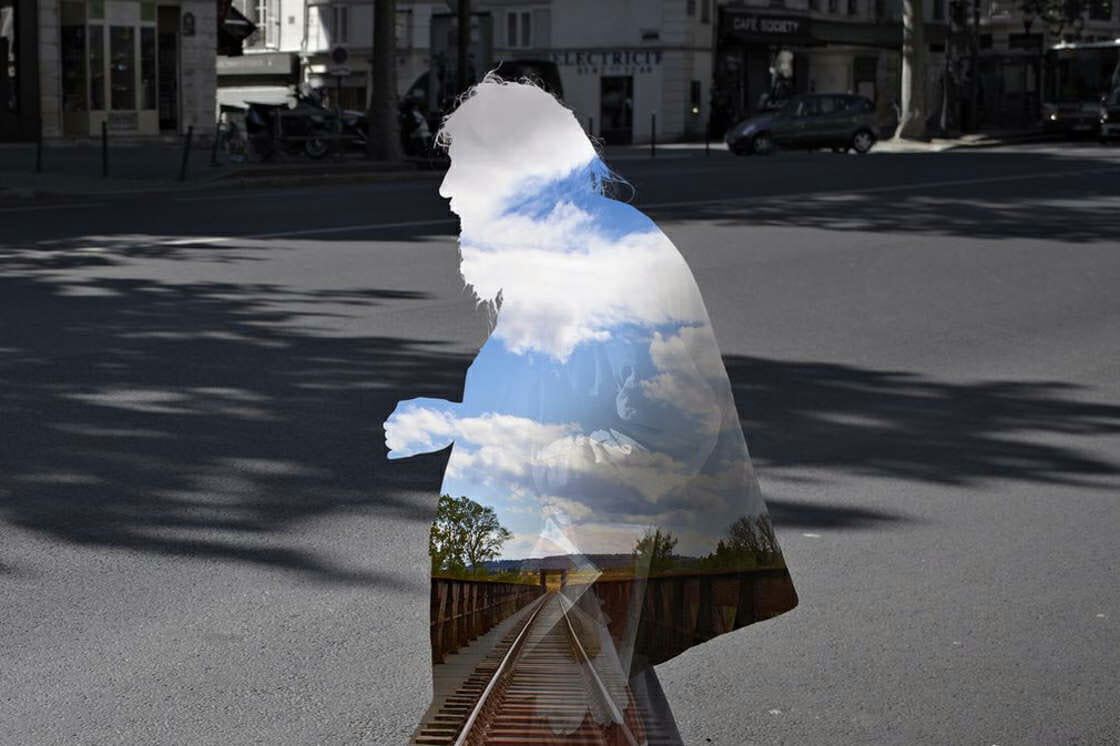 Digital collage by Nacho Ormaechea from the Street Memories series.