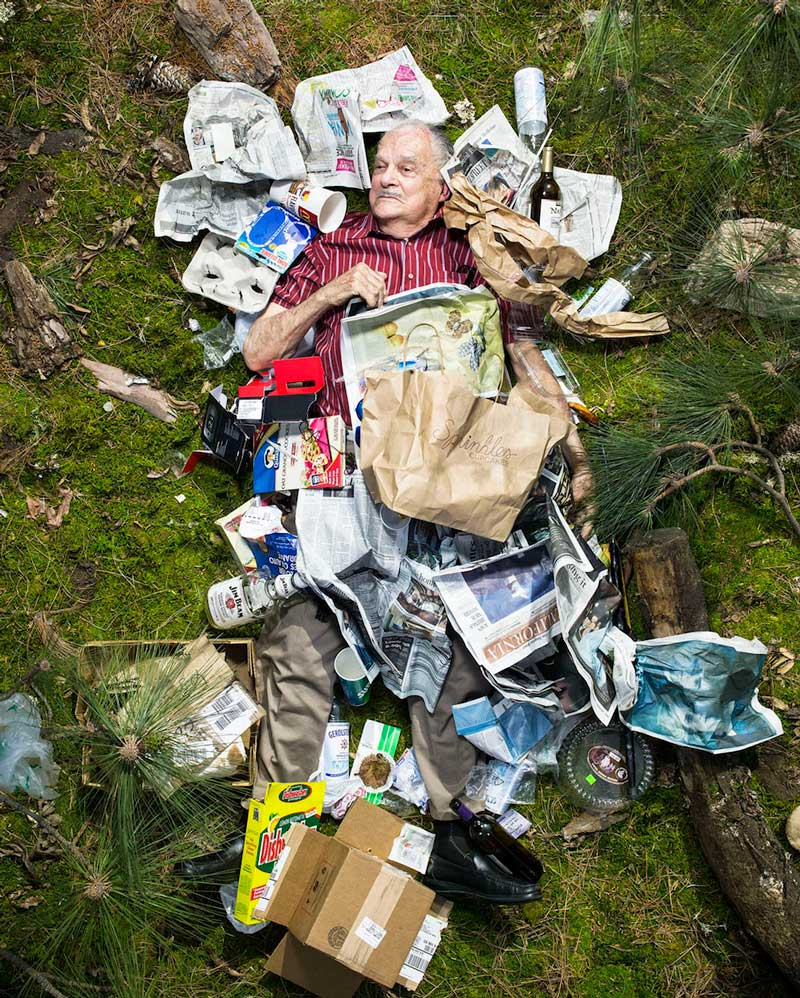 From Gregg Segal's ongoing project 7 Days of Garbage