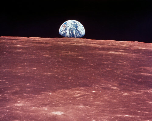Earth from the Moon Photo