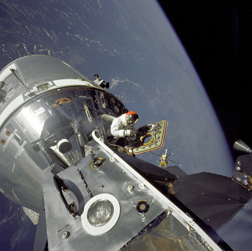 Apollo 9 in Earths orbit