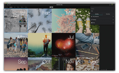 Photos Organized in Mylio Calendar View