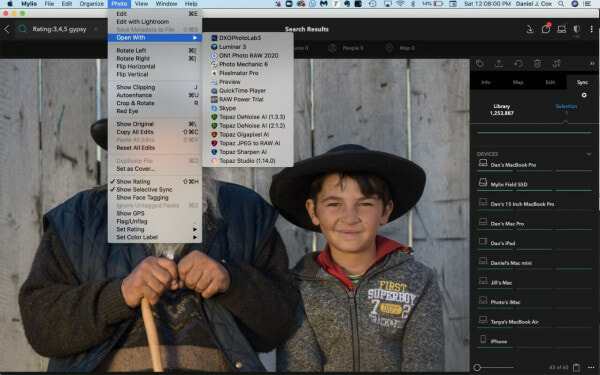 Mylio lets you export to other editors