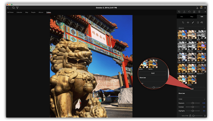Create your own editing presets