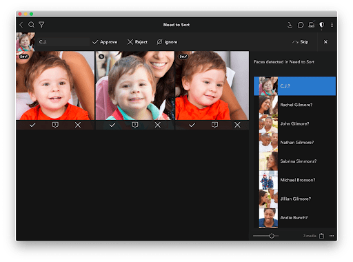 Save your photos with face tagging